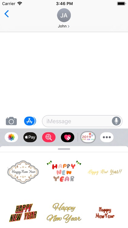 wish New Year stickers 2019 screenshot-5