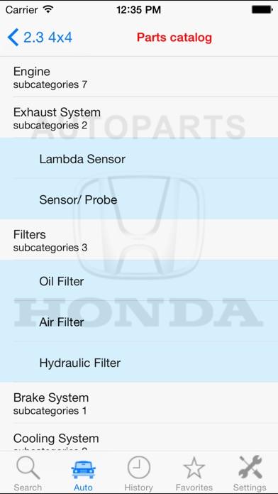 Autoparts for Honda