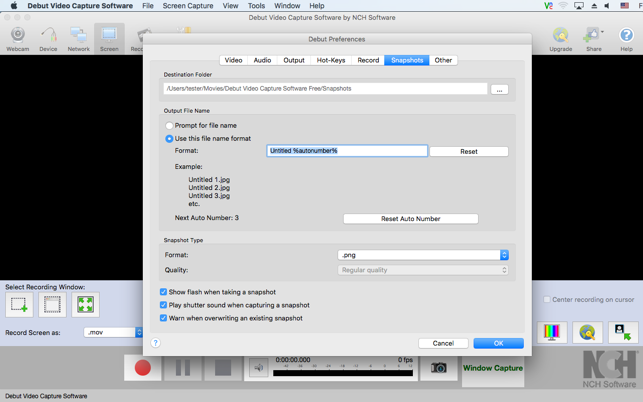 Debut video capture software on the mac app store ccuart