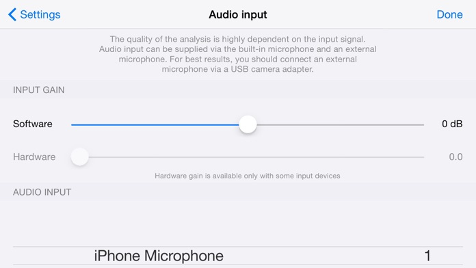 Audio Spectrum Screenshot