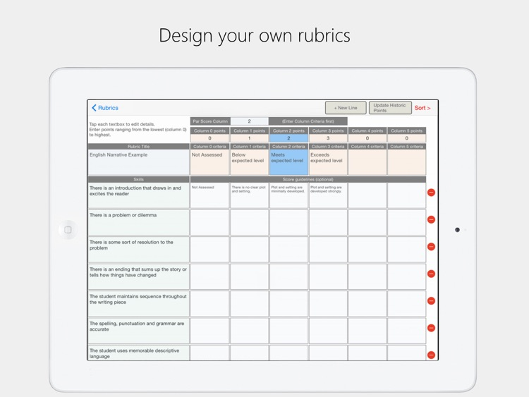 Rubrics screenshot-3