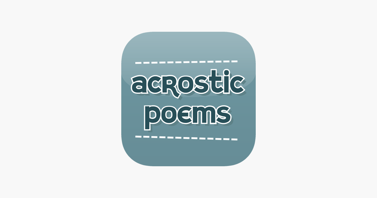 Acrostic Poem on the App Store