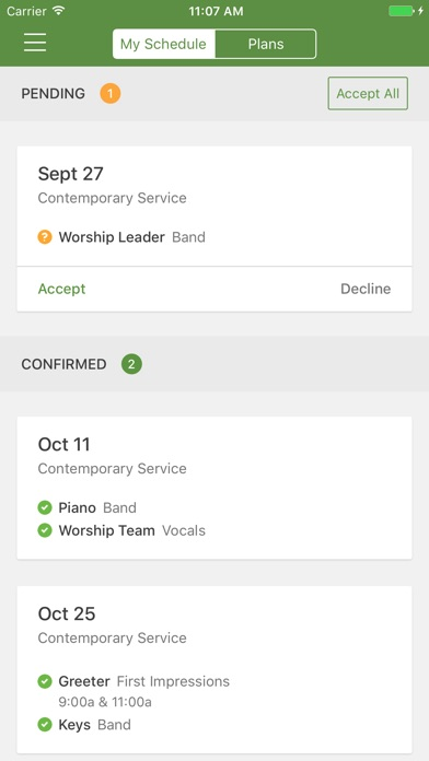 Planning Center Services review screenshots