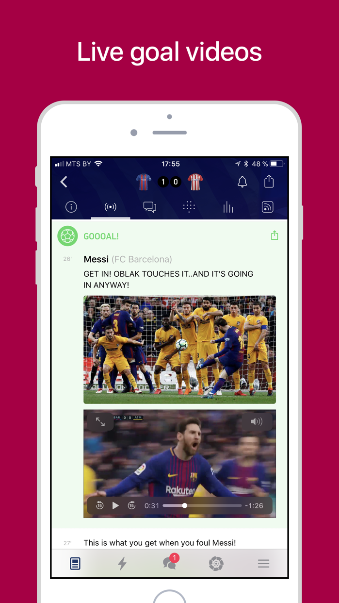 Barcelona Live — Goals & News Screenshot