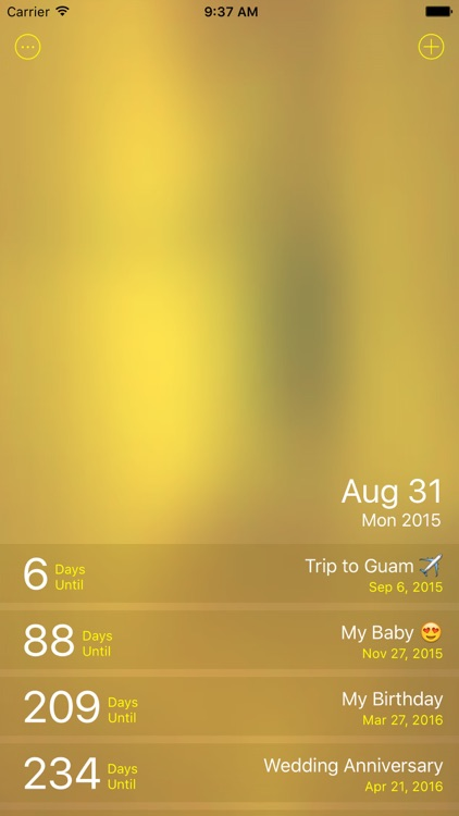 Golden Days - Event Countdown