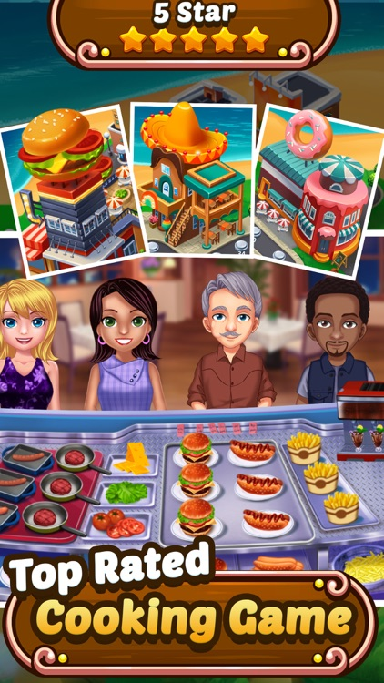 Food Court Hamburger Fever: Burger Cooking Chef screenshot-3