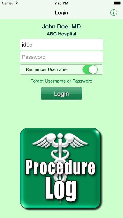 Procedure Log screenshot-0
