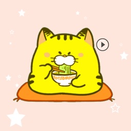 Pudgy Cat Yellow Animated