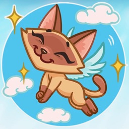Siamese Kitty! Stickers