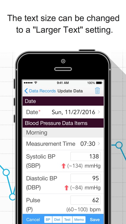 Blood Pressure Grapher screenshot-3
