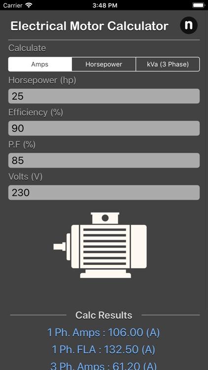 Electrical Motor Calculator