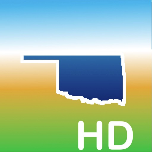 Aqua Map Oklahoma Lakes GPS HD