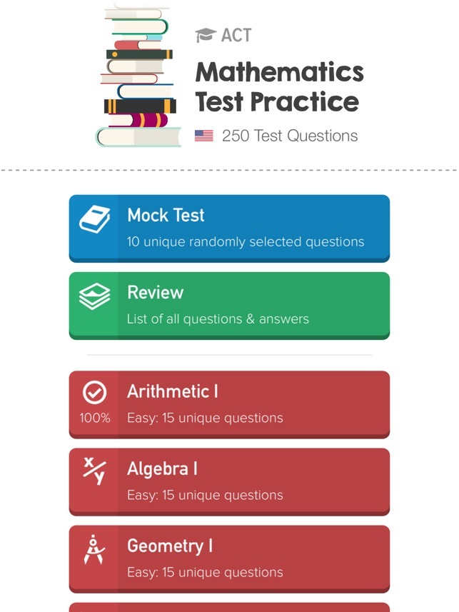 ACT Math: Practice Questions on the App Store