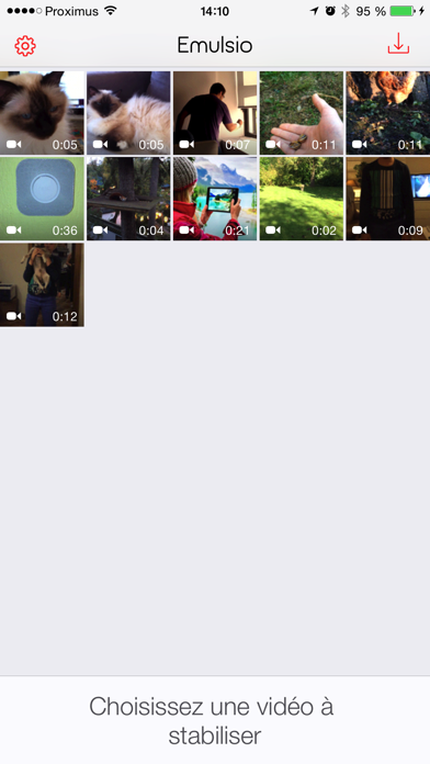 Screenshot #1 pour Emulsio › Video Stabilizer