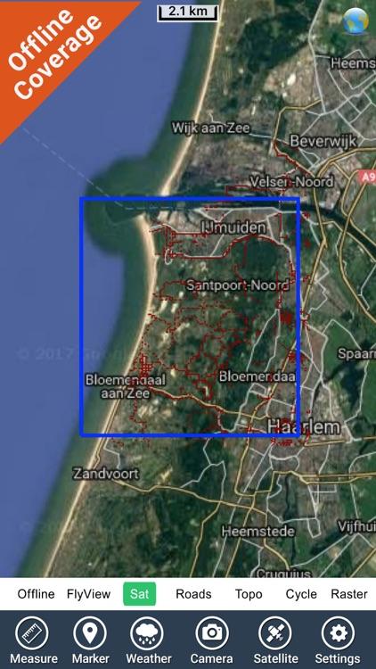 Zuid-Kennemerland NP GPS and outdoor map screenshot-4