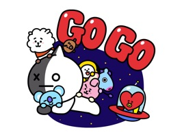 These stickers are showing off the UNIVERSTAR BT21's cuteness for daily life
