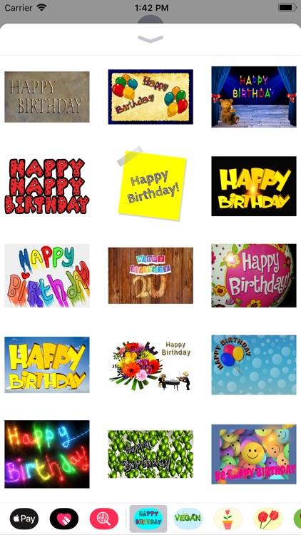 Happy Happy Birthday Stickers screenshot-4