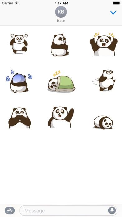 Animated Chubby Panda Sticker - 窓用