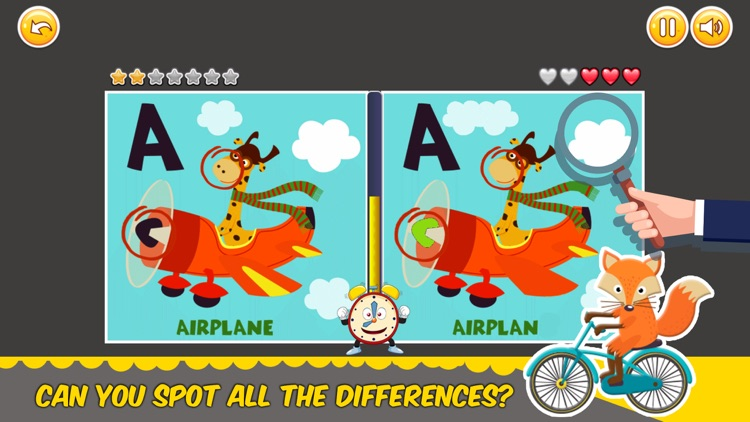 Find Differences alphabet game