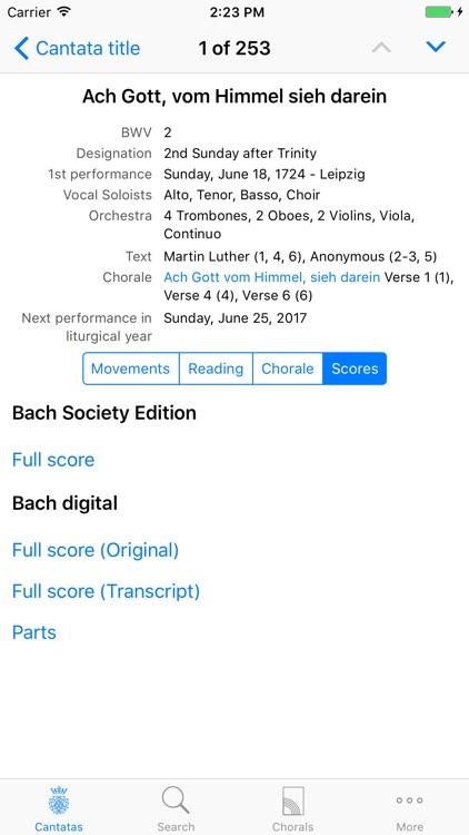 Cantatas screenshot-4