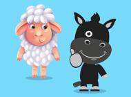 Lamb & Black Horse Stickers