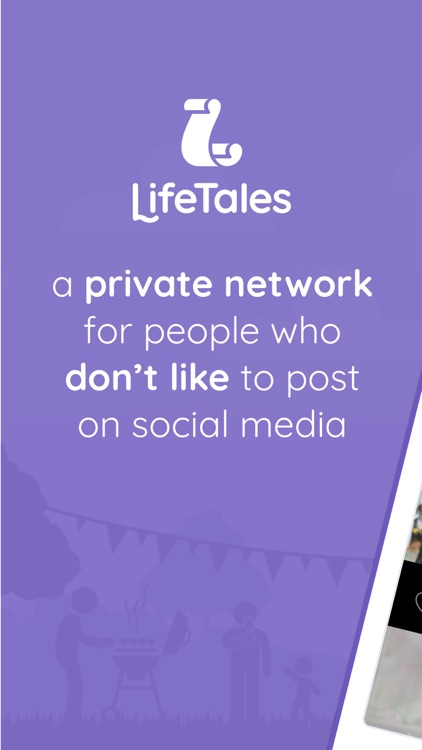 LifeTales - Privately share with family/friends