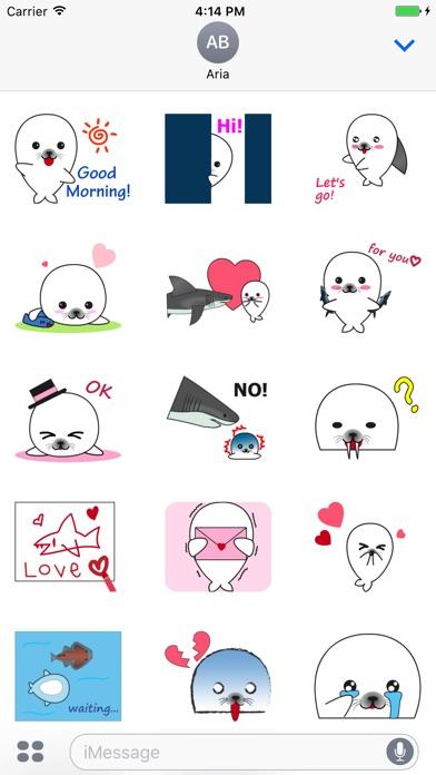 Animated Lovely Seal Sticker screenshot 1