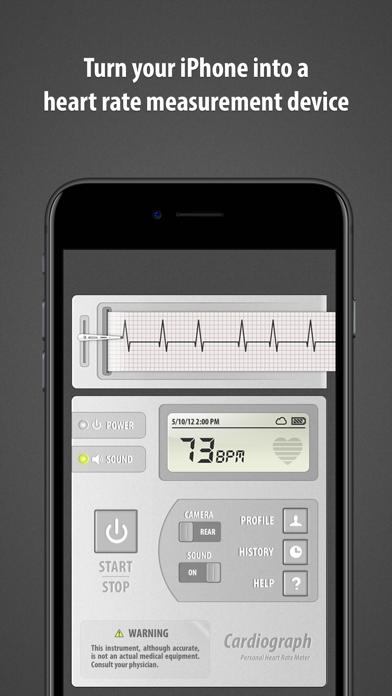 Cardiograph - Heart Rate Meter Screenshot 1