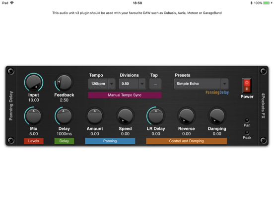 Panning Delay AUv3 Plugin screenshot 3