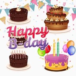 Birthday Cake Builder Sticker