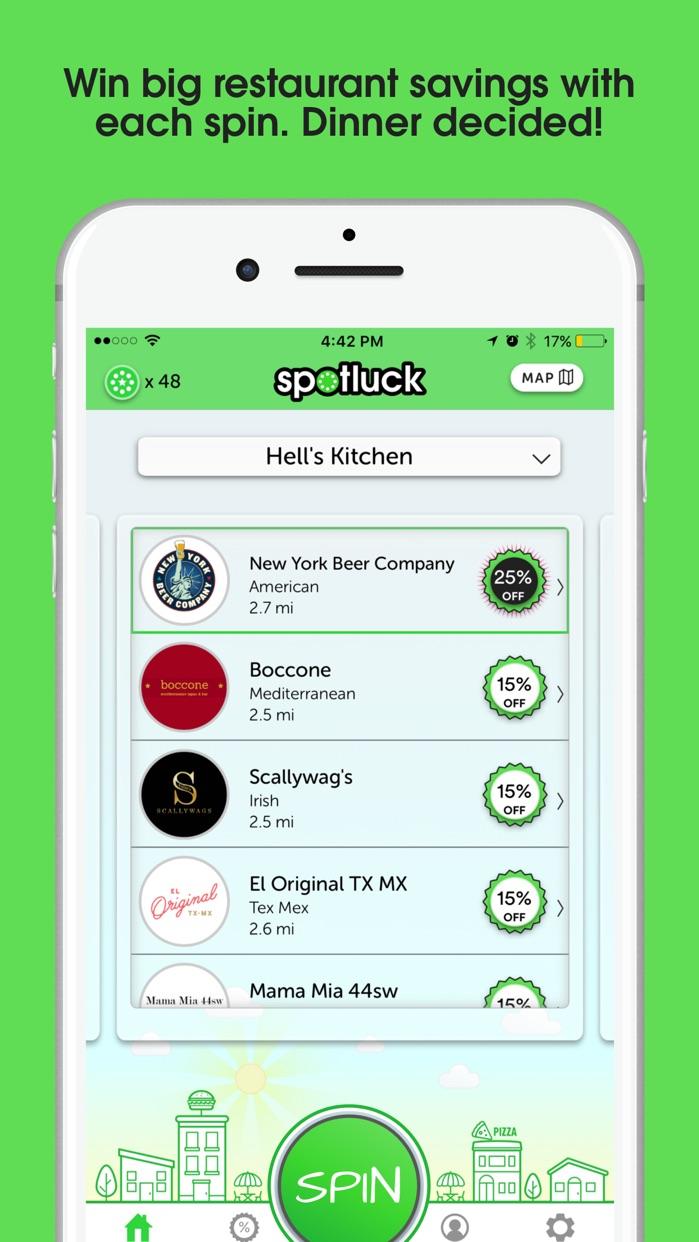 Spotluck - Spin. Eat. Save. Screenshot