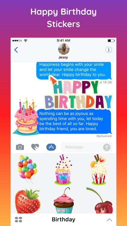 HBD Happy Birthday Sticker App