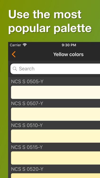 NCS color palette. 3D chart