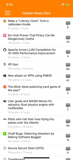Hacker News Zero on the App Store