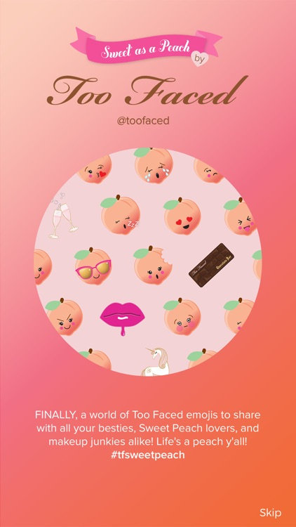 Too Faced emojis, sticker & card