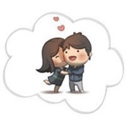 kiss me love stickers