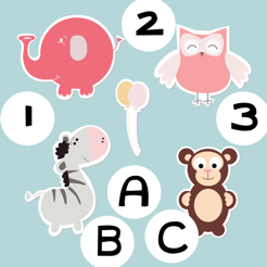 ABC&123 First Count& Spell Games:Smart Toddlers And Children Learn To Play!Free Educational Kids App
