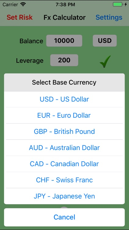 Forex Trade Calculator screenshot-3