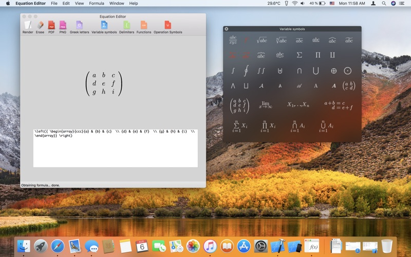 Equations Editor