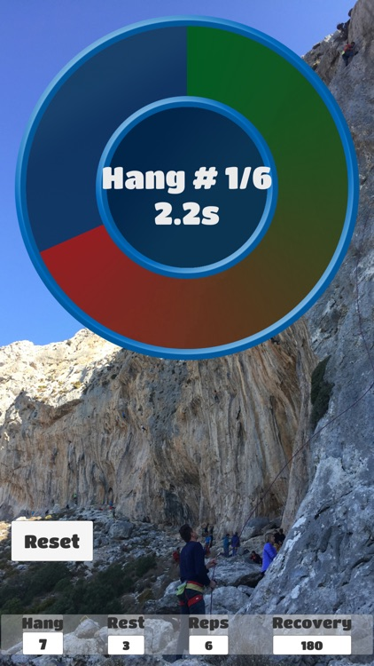 Hangboard timer screenshot-2