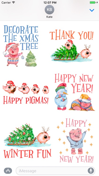 Christmas Pun.Happy Pigmas Christmas Puns By Lidia Frias