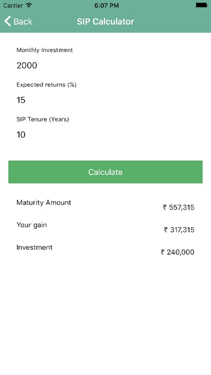 Easy Investment Calculator
