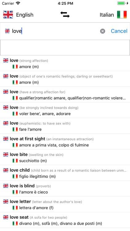 Italian Dictionary - English