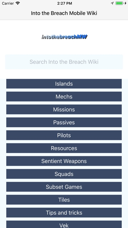 Mobile Wiki - Into the Breach