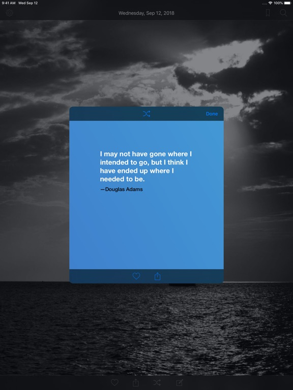 Daily Quote - Positive Quotes iPad