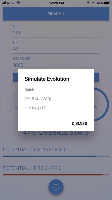 Evolution Plus for Pokemon GO Screenshot on iOS