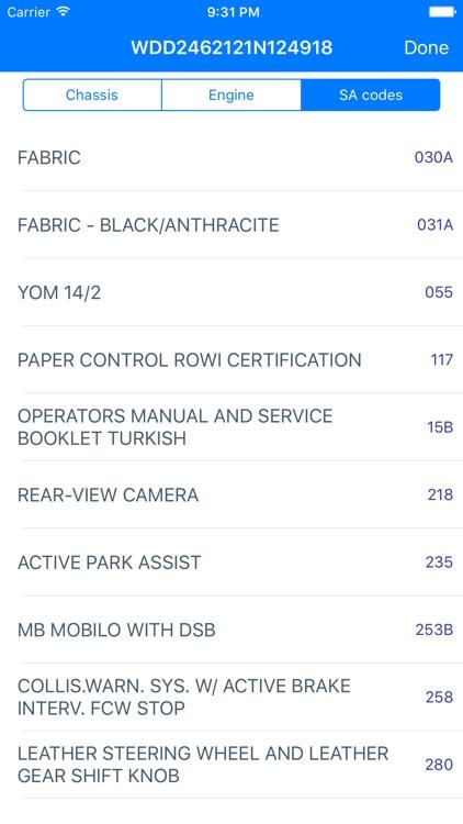 VIN Decoder For Mercedes Benz Screenshot 3