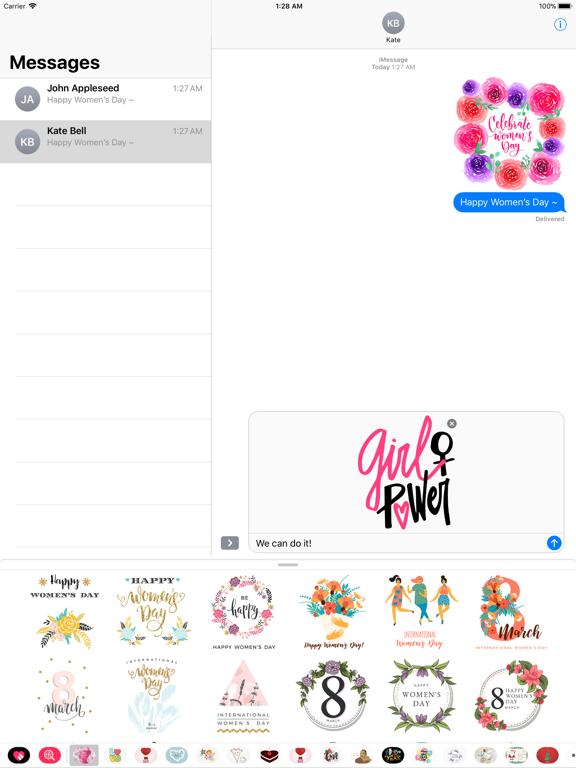 Happy Women's Day Stickers Set screenshot 7
