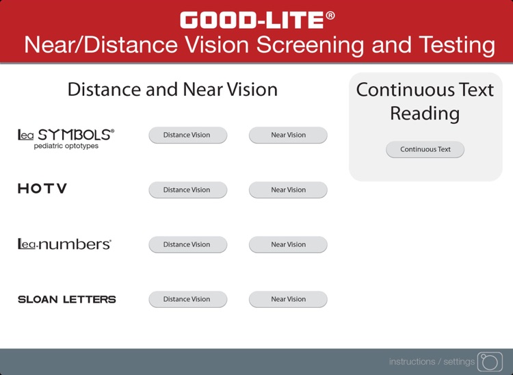 Near/Distance Vision Screening & Testing