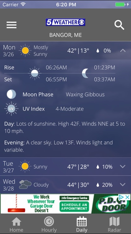 WABI TV5 Weather App screenshot-4